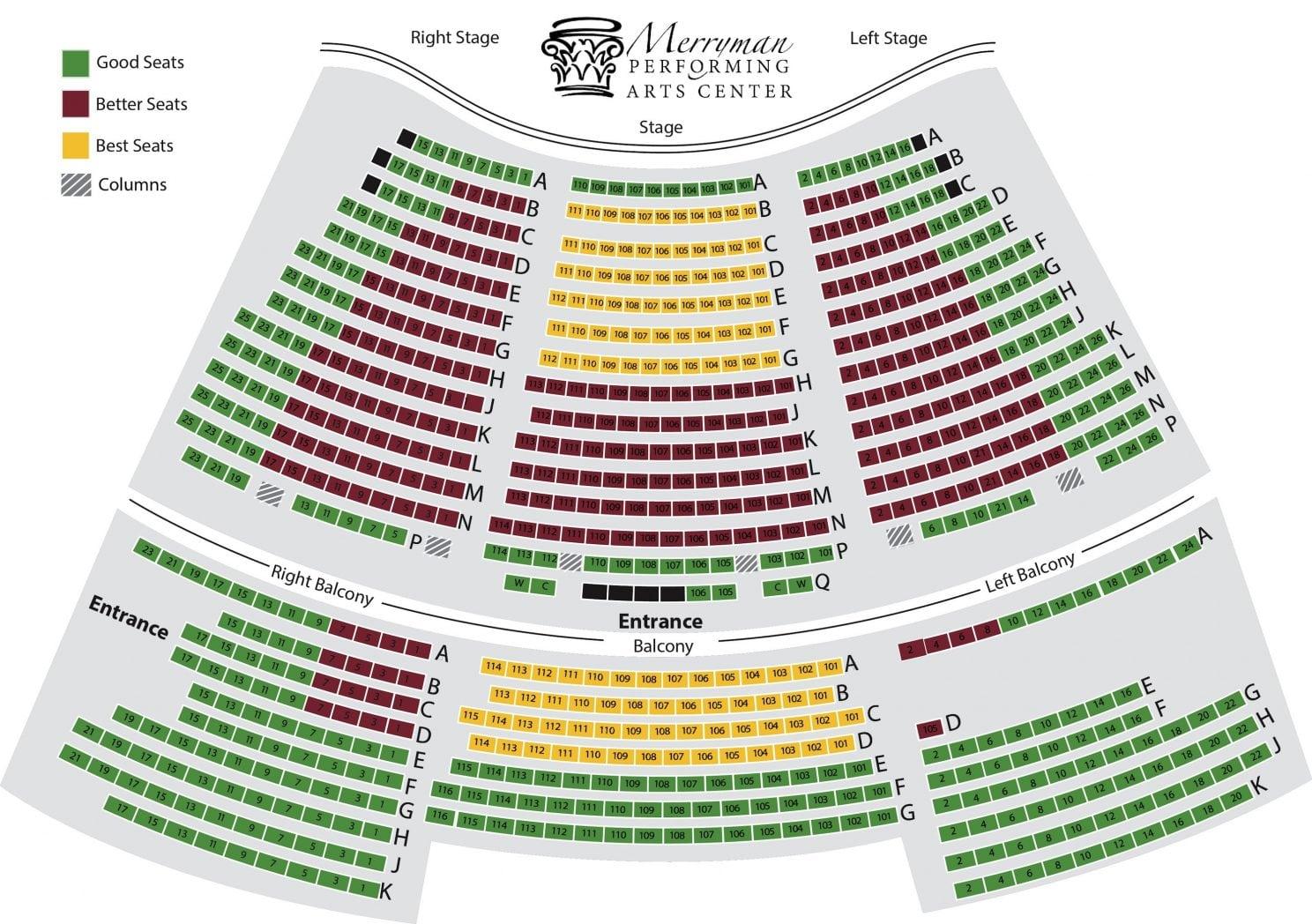 seating at the Merryman Performing Arts